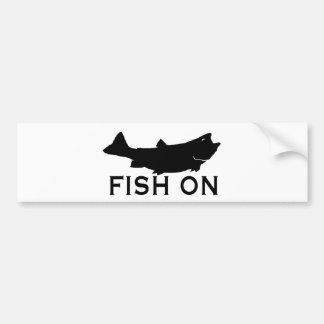 Peixes sobre adesivo para carro