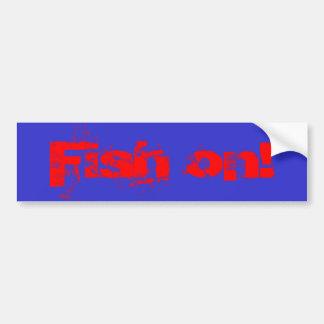 Peixes sobre! adesivo