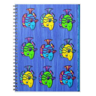 Peixes tropicais 1 caderno espiral