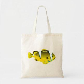 Peixes tropicais amarelos bolsa para compra