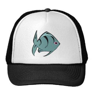 Peixes tropicais azuis escuro bones