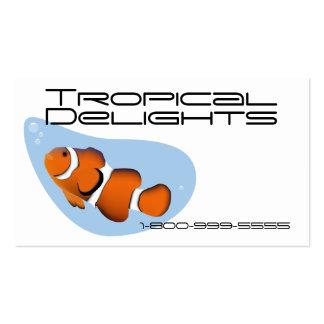 Peixes tropicais modelo cartão de visita