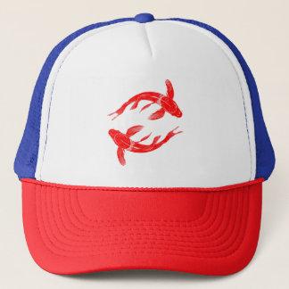 Peixes vermelhos de Koi Boné