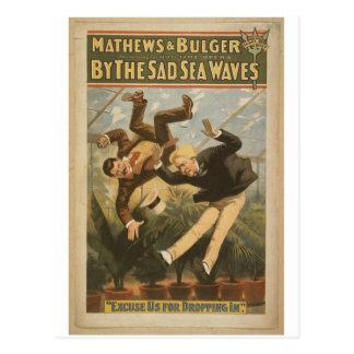 Pelas ondas tristes do mar, 'desculpe-nos para dei cartão postal