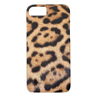 Pele animal do falso do teste padrão de Jaguar Capa iPhone 7