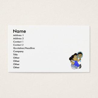 Pele bonito do meio da menina cartão de visitas