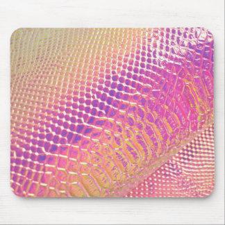 Pele de cobra dos rosa mousepad