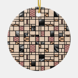 Pele do Fishnet da arte moderna & ornamento do