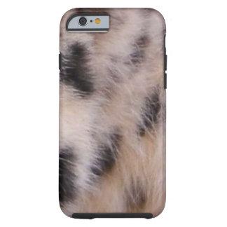 Pele do leopardo de neve capa tough para iPhone 6