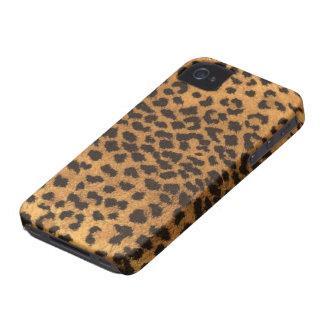 Pele do leopardo do falso capas para iPhone 4 Case-Mate