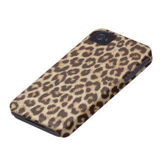 Pele do leopardo do falso capinha iPhone 4