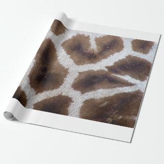 Pele do papel de envolvimento do girafa papel de presente