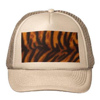 Pele do tigre ou modelo listrado preto da textura boné