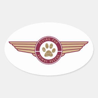 Pele do vôo - etiqueta do logotipo da linha aérea