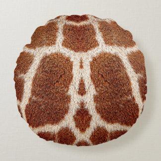 Pele original do girafa almofada redonda