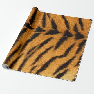 Pele preta VIP do safari do tigre de Brown da pele Papel De Presente