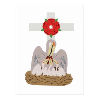 Pelicano esotérico cartão postal