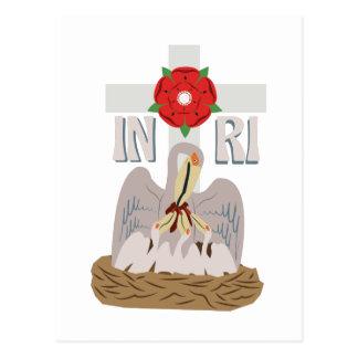 Pelicano INRI Cartão Postal