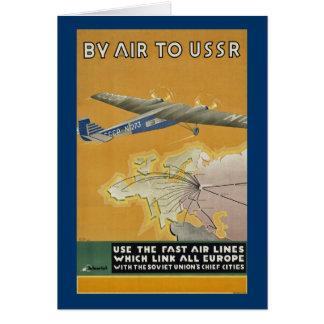 Pelo ar a URSS Cartão Comemorativo