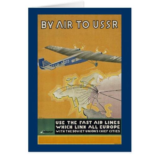 Pelo ar a URSS Cartões