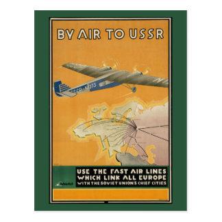 Pelo ar à URSS Cartão Postal