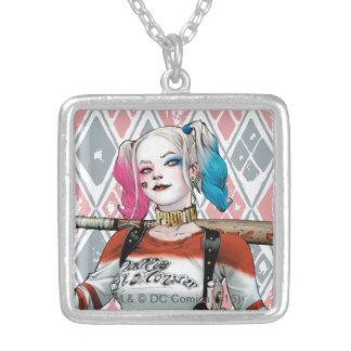 Pelotão do suicídio | Harley Quinn Colar Com Pendente Quadrado
