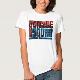 Pelotão do suicídio logotipo vermelho e azul de | camisetas