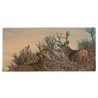 Pen Drive Arte da foto dos cervos de mula