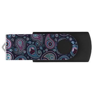 Pen Drive Azul de Paisley Patern, cerceta, elegante violeta