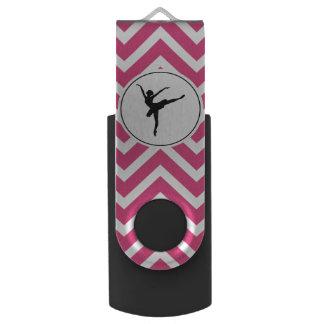 Pen Drive Bailarina branca cor-de-rosa do En Pointe de