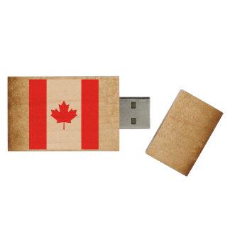 Pen Drive Bandeira dourada de Canadá