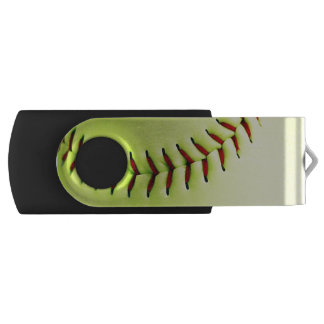 Pen Drive Bola amarela do softball