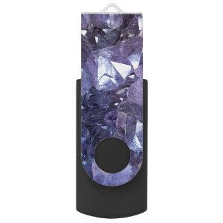 Pen Drive Conjunto de cristal Amethyst