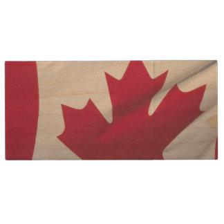Pen Drive De Madeira Bandeira canadense