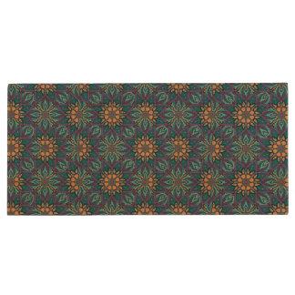 Pen Drive De Madeira Design floral do teste padrão do abstrato da
