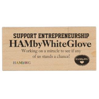 Pen Drive De Madeira HAMbWG - flash de USB - empreendimento do apoio