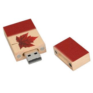 Pen Drive De Madeira Lembrança de Canadá da movimentação do flash da