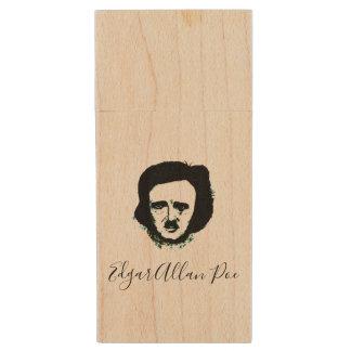 Pen Drive De Madeira Movimentação do flash de Edgar Allan Poe