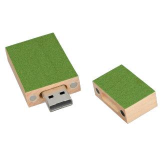 Pen Drive De Madeira Reflexo verde