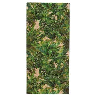 Pen Drive De Madeira Teste padrão verde da queda da floresta da