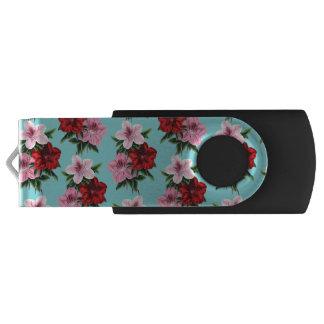 Pen Drive flores rosas vermelha na luz da cerceta