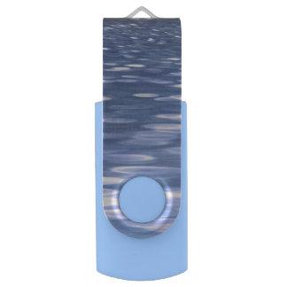 Pen Drive Giratório #3 abstrato: Shimmer do azul de pó