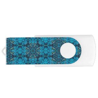 Pen Drive Giratório Alhambra USB azul 64 GB de movimentação do flash