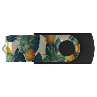 Pen Drive Giratório amarelo dos limões dos abacaxis