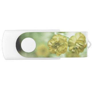 Pen Drive Giratório Amarelo minúsculo das flores