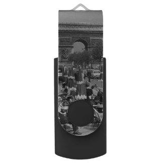 Pen Drive Giratório Arco triunfal de France Paris do vintage