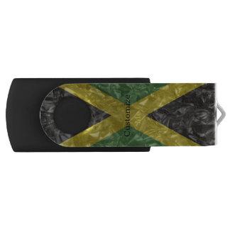 Pen Drive Giratório Bandeira jamaicana - enrugada