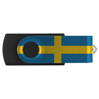 Pen Drive Giratório Bandeira nacional da suecia