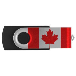 Pen Drive Giratório Bandeira nacional de Canadá, folha de bordo,
