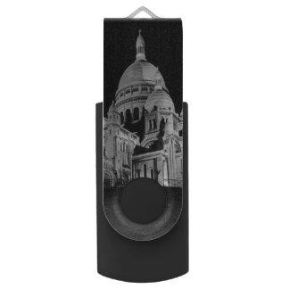 Pen Drive Giratório Basílica de France Paris Sacre Coeur do vintage